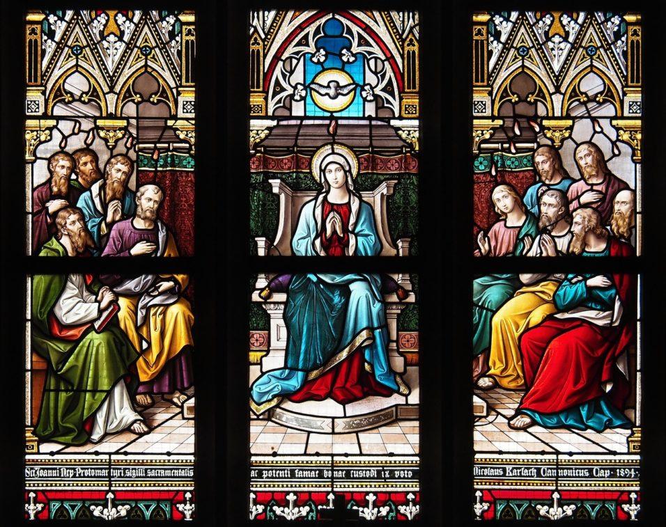 Templomi ablak - szentlélek, apostolok