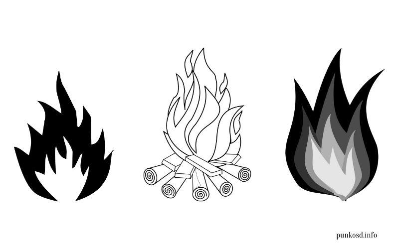 Pünkösd színező - tűz